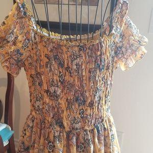 Dress Smocked Yellow